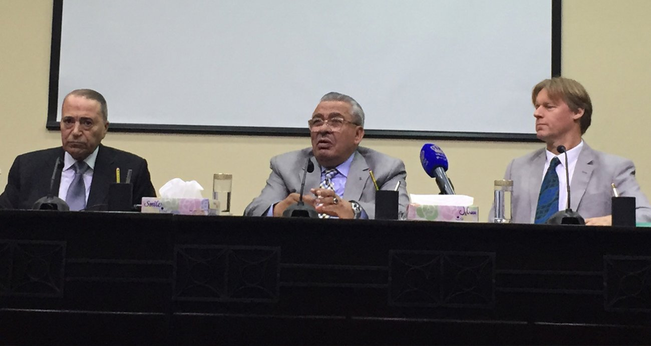His Excellency Mr Abdur-Rauf Rawabdeh, President of the Jordan Senate, speaking at the event