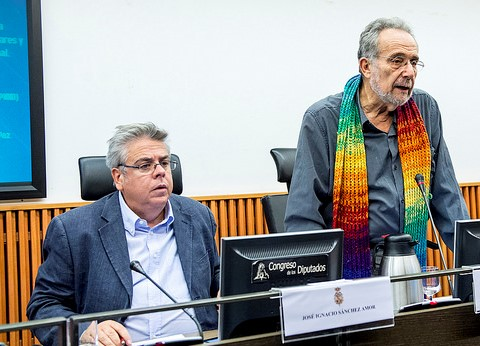 Pedro speaking at the first PNND event in the Spanish parliament on Nov 15
