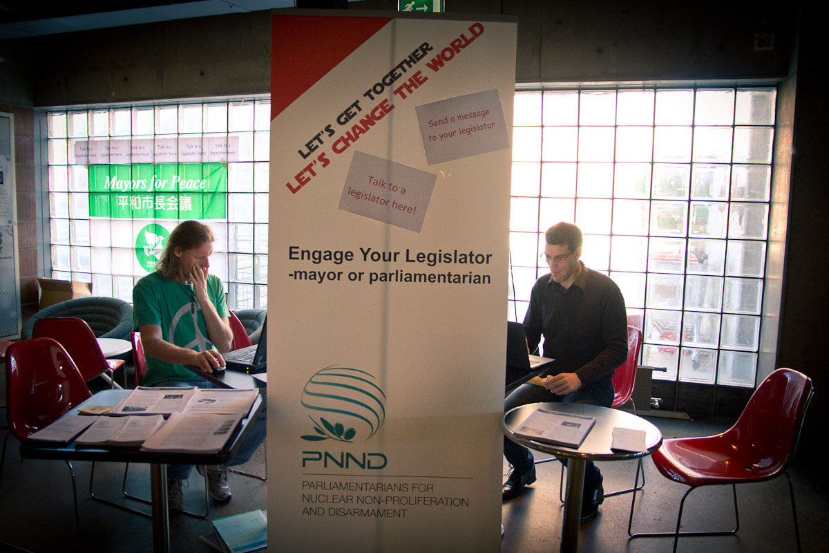 PNND Stall at the Civil Society Forum, Oslo 2013