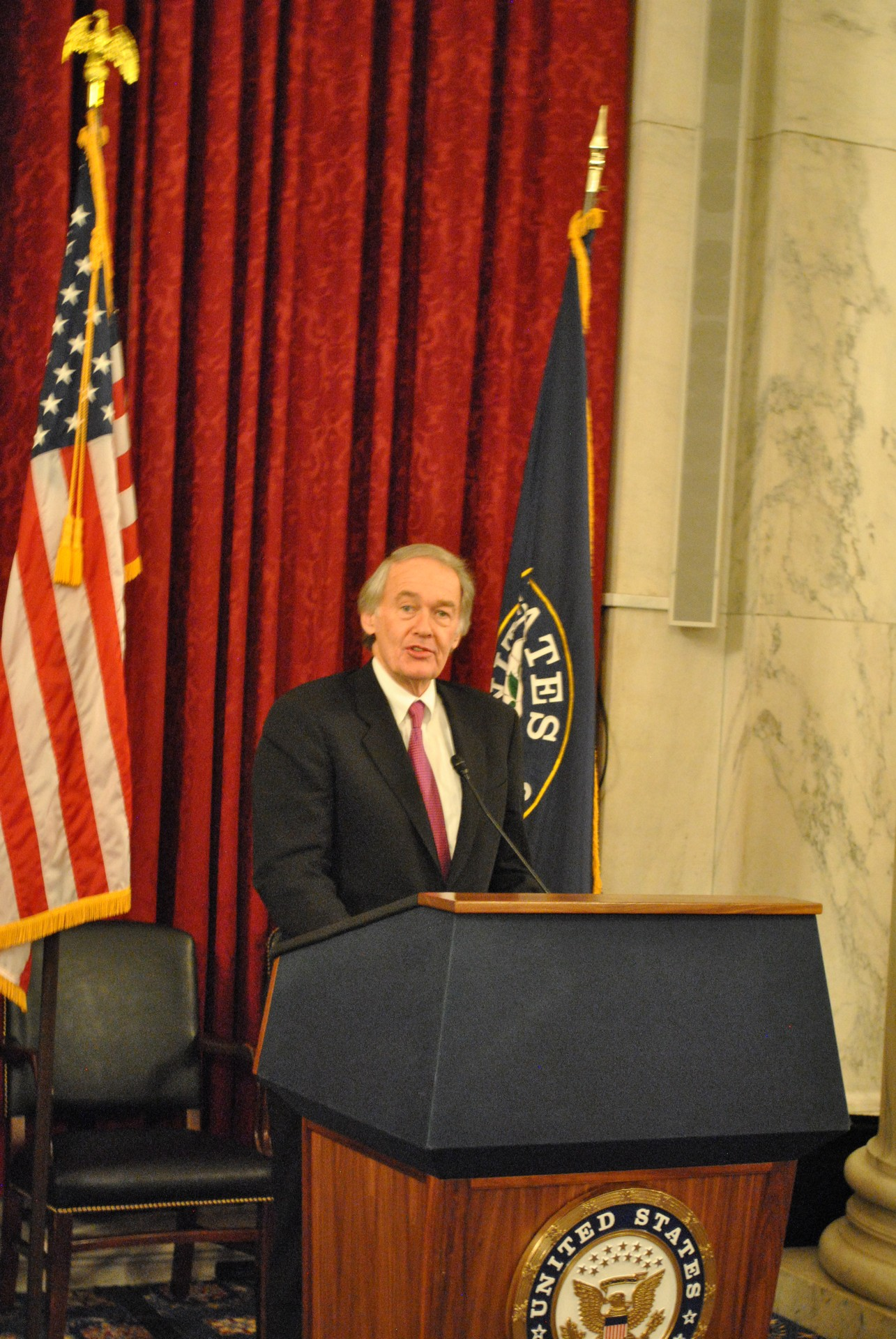US Senator Ed Markey, PNND Co-President, at the reception at the Kenedy Causus Room, Feb 27, 2014